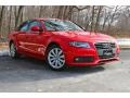 Brilliant Red 2009 Audi A4 2.0T Premium quattro Sedan