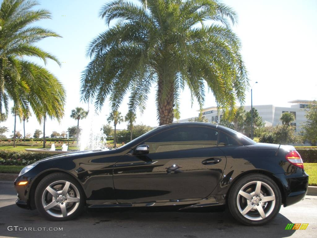 2005 slk 350 roadster obsidian black metallic black photo 1