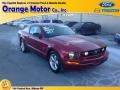 2007 Torch Red Ford Mustang V6 Deluxe Coupe  photo #1