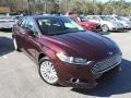 2013 Bordeaux Reserve Red Metallic Ford Fusion Hybrid SE  photo #1
