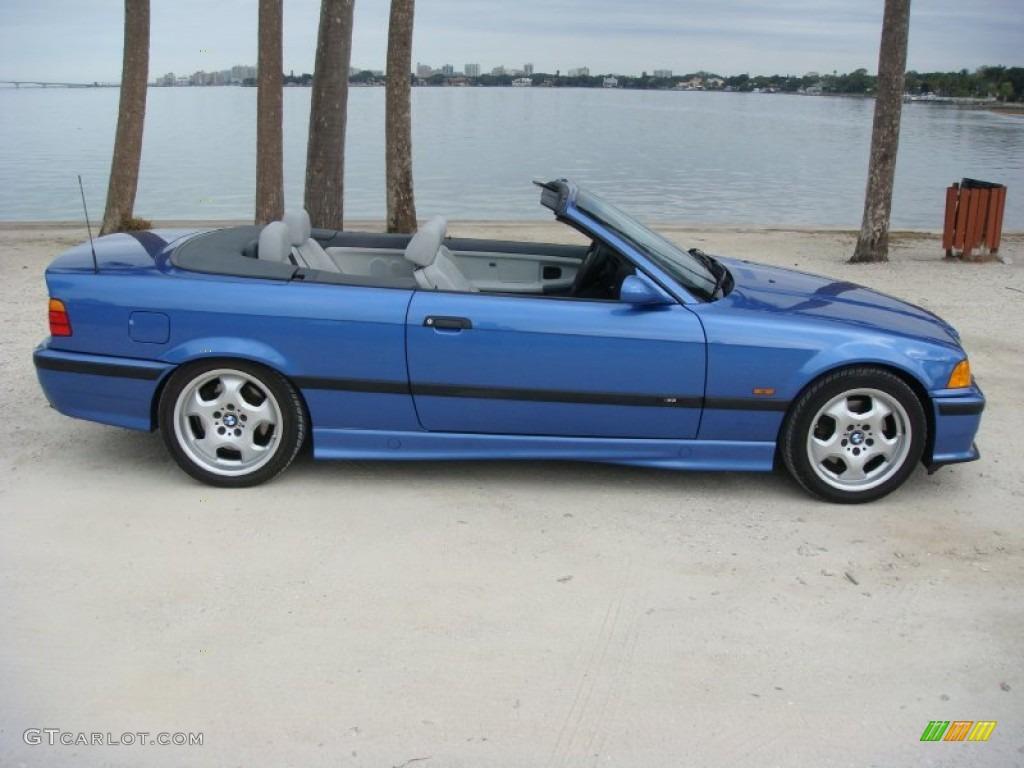 Estoril blue metallic 1998 bmw m3 convertible exterior