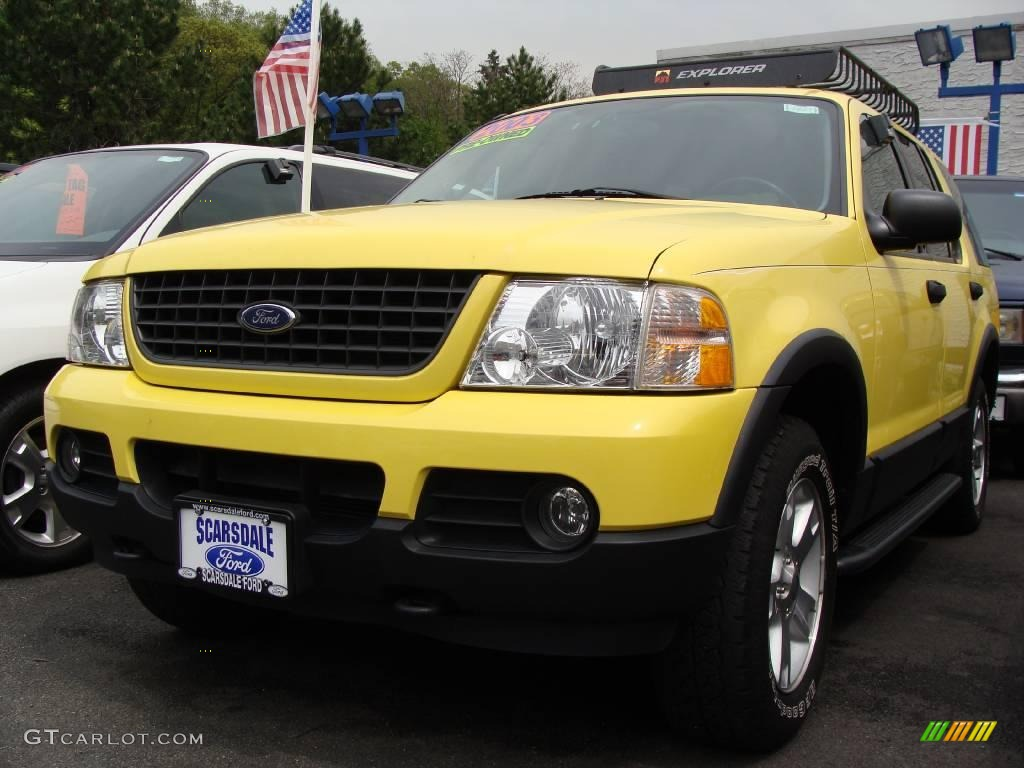 2003 Explorer XLT 4x4 - Zinc Yellow / Graphite Grey photo #1
