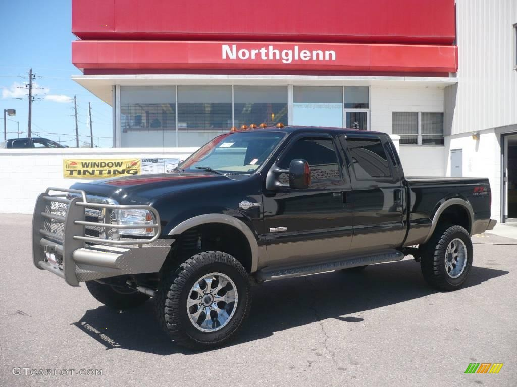 2007 f250 super duty king ranch crew cab 4x4 black castano brown leather photo