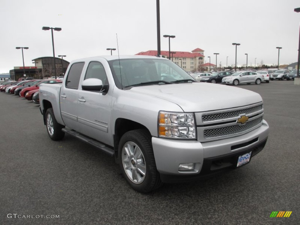 2012 Silverado 1500 LTZ Crew Cab 4x4 - Silver Ice Metallic / Ebony photo #1