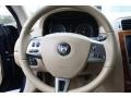 2008 Jaguar XK Caramel Interior Steering Wheel Photo