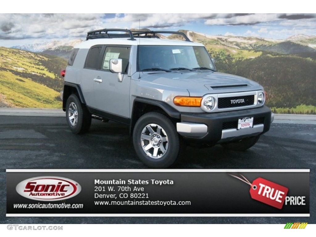 2014 Cement Gray Toyota FJ Cruiser 4WD #90124649 | GTCarLot.com - Car Color Galleries