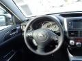 2014 Subaru Impreza Carbon Black Interior Steering Wheel Photo