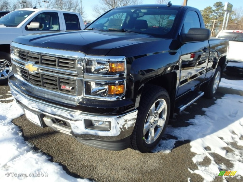 2014 black chevrolet silverado 1500 lt z71 regular cab 4x4 90185271 car color. Black Bedroom Furniture Sets. Home Design Ideas