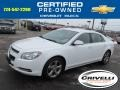 Summit White 2011 Chevrolet Malibu LT