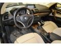 2009 BMW 1 Series Savanna Beige/Black Boston Leather Interior Prime Interior Photo