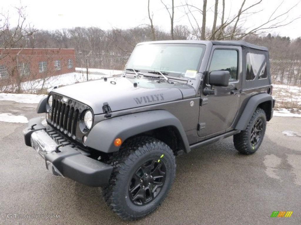 Granite Metallic 2014 Jeep Wrangler Willys Wheeler 4x4 ...
