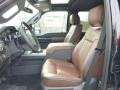 2014 Ford F250 Super Duty Platinum Pecan Leather Interior Front Seat Photo