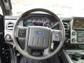 2014 Ford F250 Super Duty Platinum Pecan Leather Interior Steering Wheel Photo