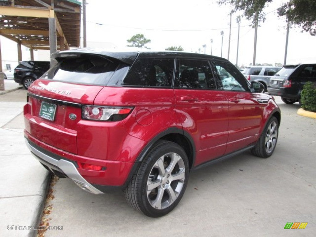 2014 firenze red metallic land rover range rover evoque. Black Bedroom Furniture Sets. Home Design Ideas