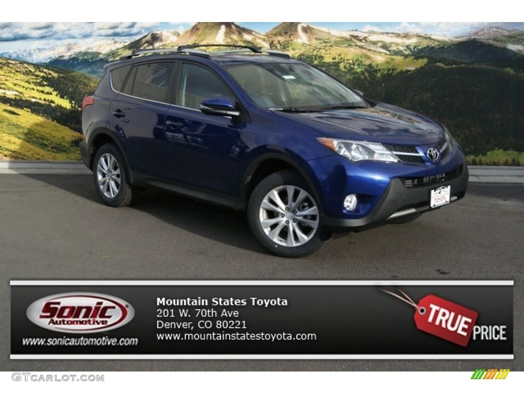 2014 blue crush metallic toyota rav4 limited awd 90297515. Black Bedroom Furniture Sets. Home Design Ideas