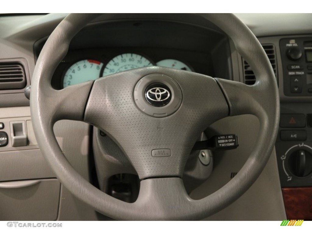 2004 toyota corolla le light gray steering wheel photo. Black Bedroom Furniture Sets. Home Design Ideas