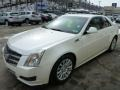 White Diamond Tricoat 2010 Cadillac CTS 4 3.0 AWD Sedan