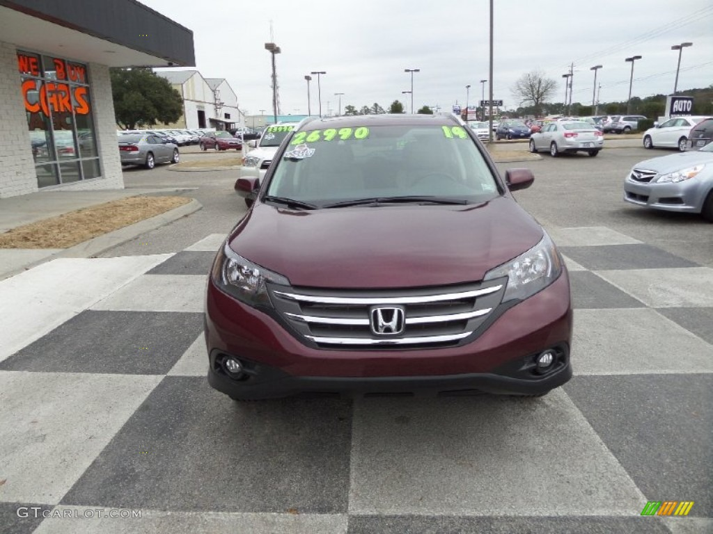 2014 CR-V EX-L - Basque Red Pearl II / Gray photo #2