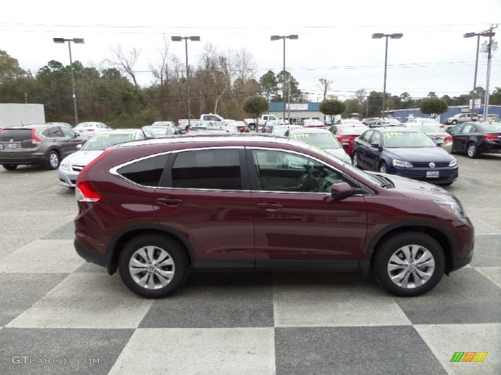 2014 CR-V EX-L - Basque Red Pearl II / Gray photo #3