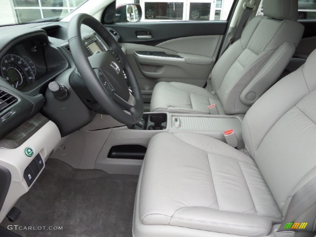 2014 CR-V EX-L - Basque Red Pearl II / Gray photo #10
