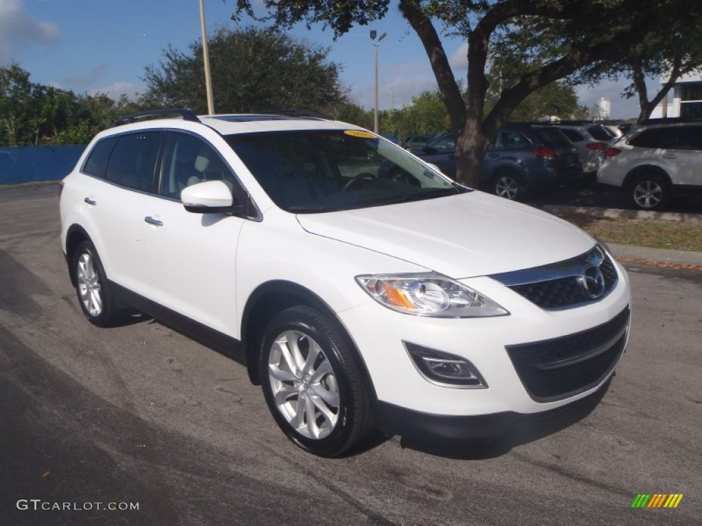 crystal white pearl mica 2012 mazda cx 9 grand touring. Black Bedroom Furniture Sets. Home Design Ideas