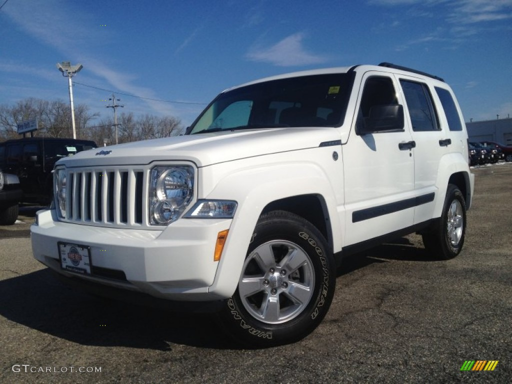 2012 bright white jeep liberty sport 4x4 90408455 car color galleries. Black Bedroom Furniture Sets. Home Design Ideas