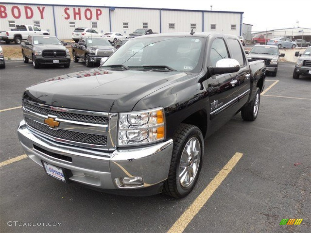 2013 Silverado 1500 LT Crew Cab - Black / Ebony photo #1