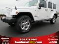 Bright White 2014 Jeep Wrangler Unlimited Sahara 4x4