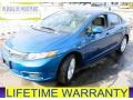 Dyno Blue Pearl 2012 Honda Civic EX-L Sedan