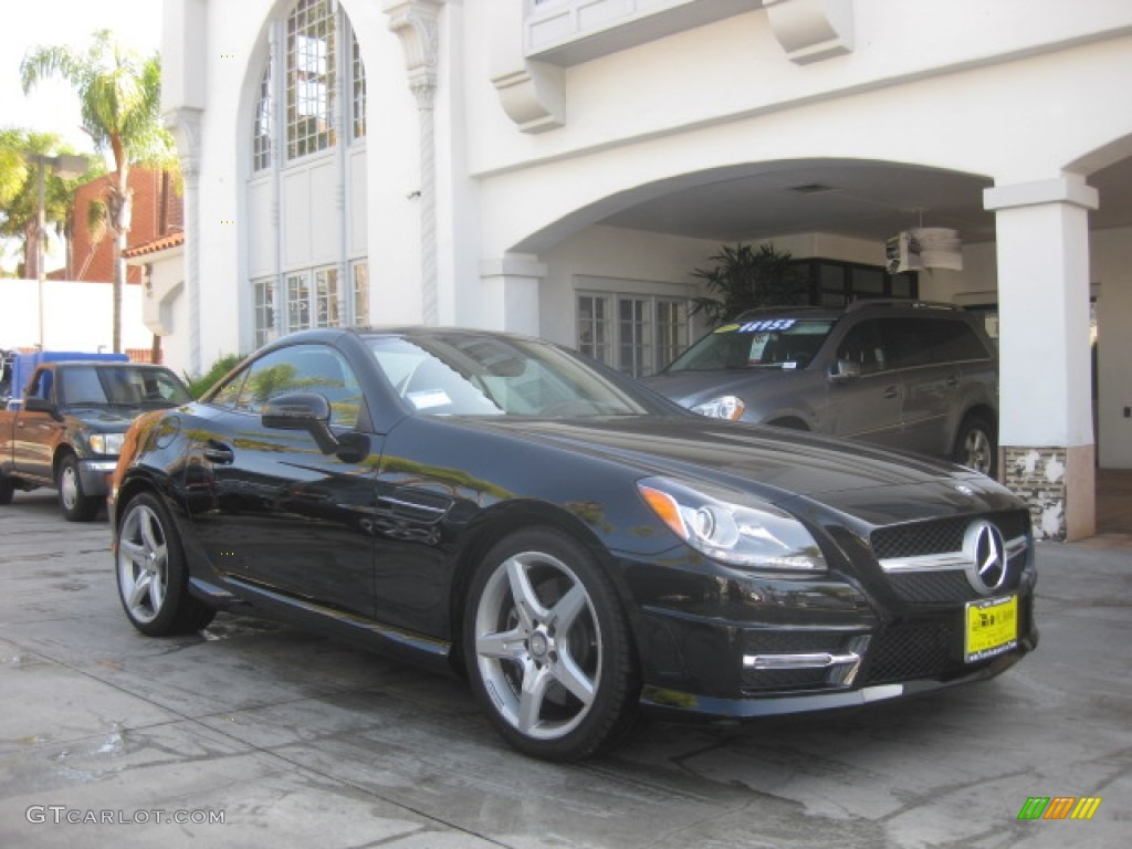 2014 SLK 250 Roadster - Black / Black photo #1