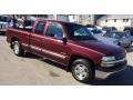 2002 Dark Carmine Red Metallic Chevrolet Silverado 1500 LS Extended Cab #90494283
