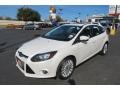 2012 White Platinum Tricoat Metallic Ford Focus Titanium 5-Door  photo #3