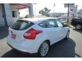 2012 White Platinum Tricoat Metallic Ford Focus Titanium 5-Door  photo #7