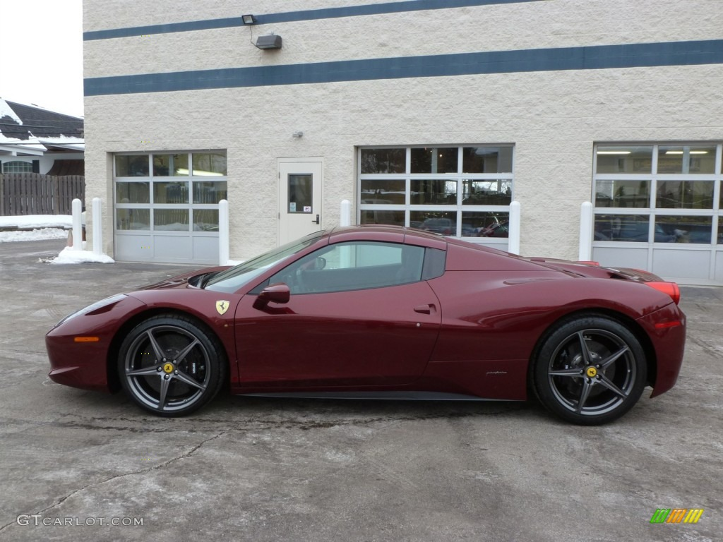 Rosso Rubino Dark Red Metallic 2012 Ferrari 458 Italia