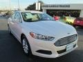 White Platinum Metallic Tri-coat 2013 Ford Fusion SE 1.6 EcoBoost