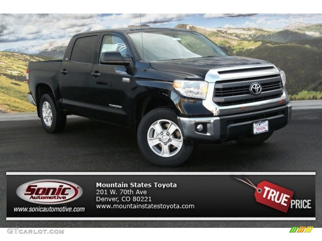 2014 Tundra SR5 Crewmax 4x4 - Black / Sand Beige photo #1
