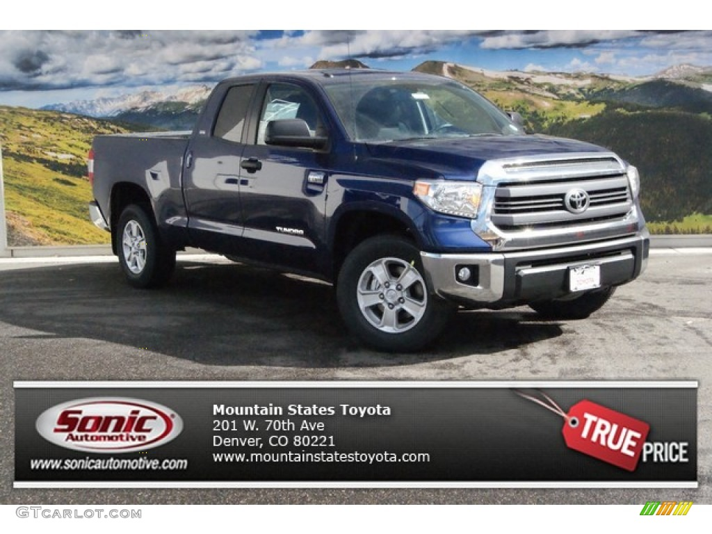 2014 Tundra SR5 Double Cab 4x4 - Blue Ribbon Metallic / Graphite photo #1