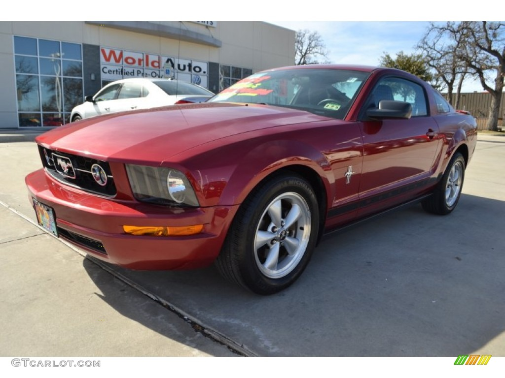 2007 Mustang V6 Premium Coupe - Redfire Metallic / Dark Charcoal photo #1