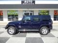 True Blue Pearl 2013 Jeep Wrangler Unlimited Sahara 4x4
