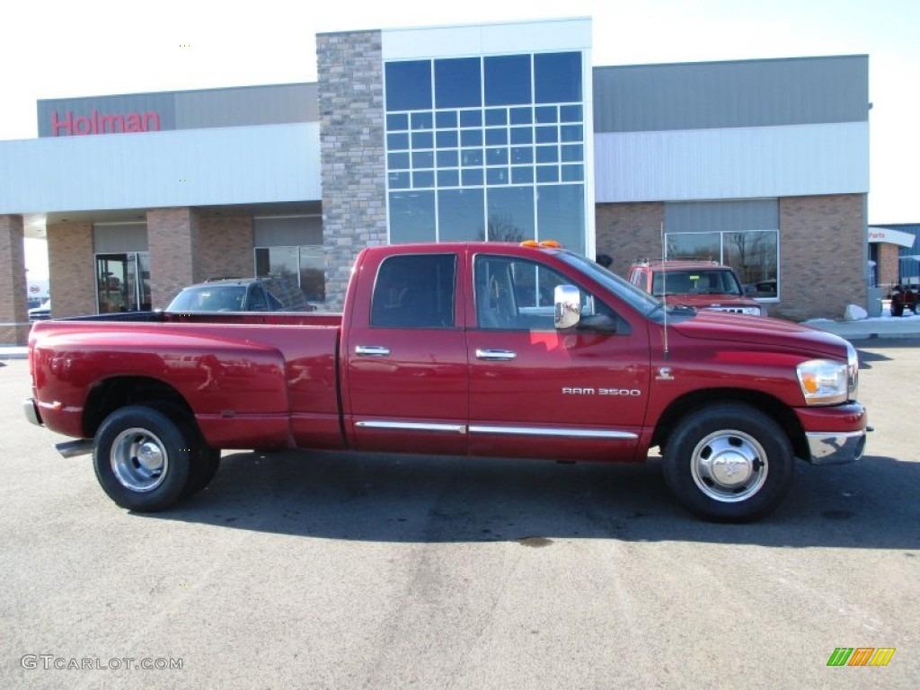 2006 Ram 3500 SLT Quad Cab Dually - Inferno Red Crystal Pearl / Medium Slate Gray photo #1