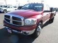 2006 Inferno Red Crystal Pearl Dodge Ram 3500 SLT Quad Cab Dually  photo #3
