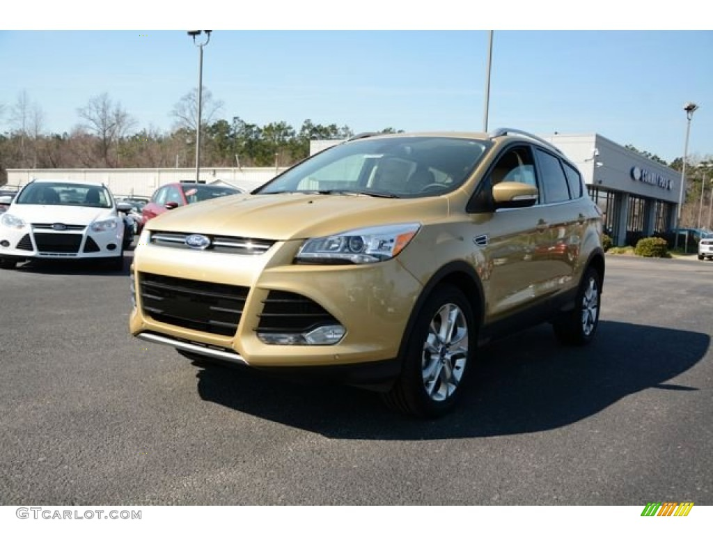 2014 Escape Titanium 1.6L EcoBoost - Karat Gold / Medium Light Stone photo #1