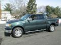 Aspen Green Metallic 2004 Ford F150 Lariat SuperCrew 4x4