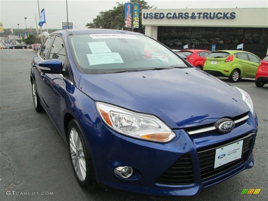 2012 Focus SEL Sedan - Sonic Blue Metallic / Charcoal Black photo #1
