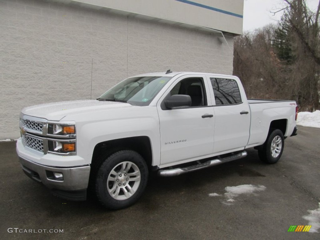 2014 summit white chevrolet silverado 1500 lt crew cab 4x4 90790177 car color. Black Bedroom Furniture Sets. Home Design Ideas