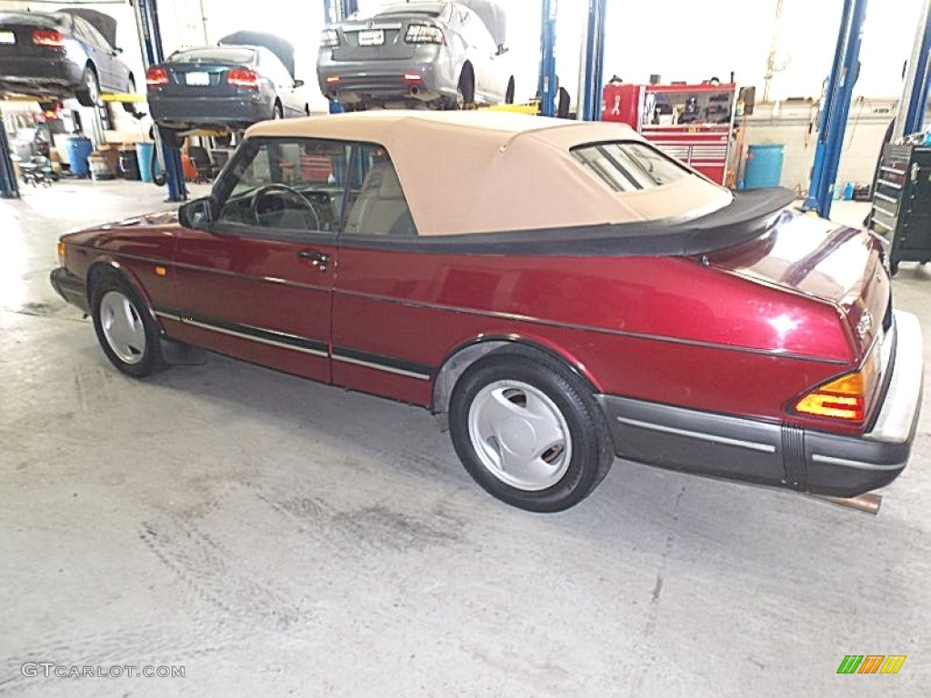Ruby Red Pearl Metallic 1993 Saab 900 Turbo Convertible Exterior Photo 90830428