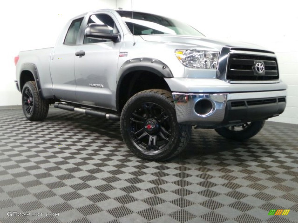 2011 Tundra Double Cab 4x4 - Silver Sky Metallic / Graphite Gray photo #1