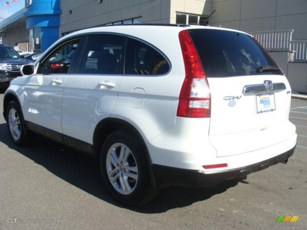 2011 CR-V EX-L 4WD - Taffeta White / Gray photo #6