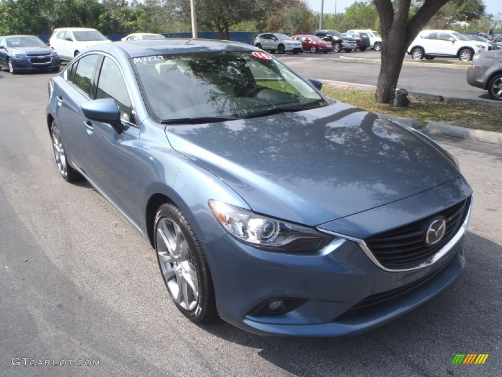 2014 blue reflex mica mazda mazda6 grand touring 90930864 car color galleries. Black Bedroom Furniture Sets. Home Design Ideas