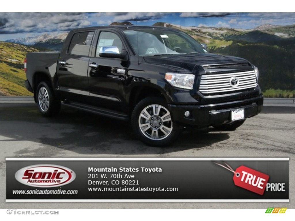 2014 Tundra Platinum Crewmax 4x4 - Attitude Black Metallic / Black photo #1